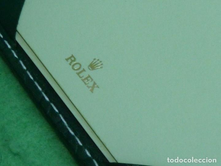 Relojes - Rolex: DIFICIL CARTERA RELOJ ROLEX LIBRETA PIEL PORTA TARJETAS ORIGINAL COLECCION - Foto 3 - 129375439