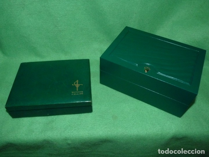 LOTE ROLEX 2 CAJA RELOJ SWISS MODELO CELLINI SUBMARINER VINTAGE (Relojes - Relojes Actuales - Rolex)