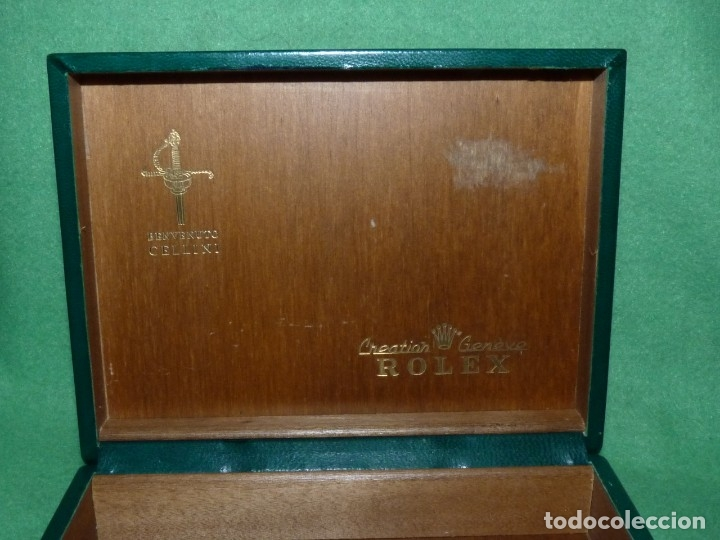Relojes - Rolex: BUEN LOTE DE 2 CAJA RELOJ ROLEX SWISS MODELO CELLINI SUBMARINER VINTAGE - Foto 5 - 118611263