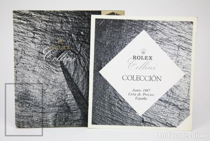 CATÁLOGO DE RELOJES DE PULSERA Y LISTA DE PRECIOS AÑO 1987 - ROLEX. CELLINI - SUIZA, 1990 (Relojes - Relojes Actuales - Rolex)