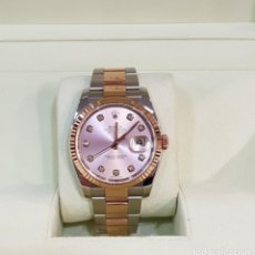 Relojes - Rolex: ROLEX DATEJUST STEEL AND GOLD DIAMOND DIAL . Lote 142893686