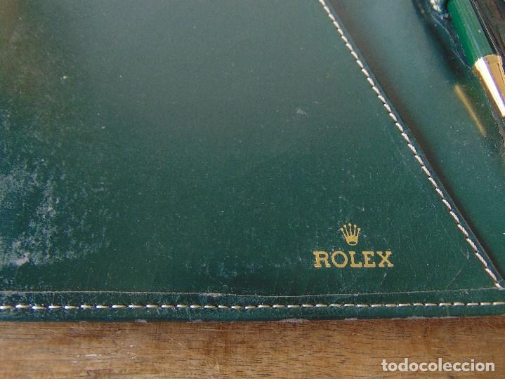 Relojes - Rolex: ANTIGUA AGENDA CON BOLI BOLIGRAFO DE LA MARCA ROLEX ROCES - Foto 3 - 143283290