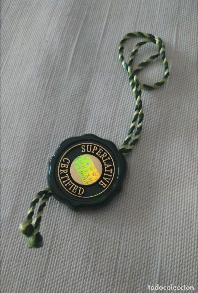 Relojes - Rolex: Etiqueta oficial lacre garantía cronógrafo 5 años Rolex Superlative Chronometer Officially Certified - Foto 2 - 223303062