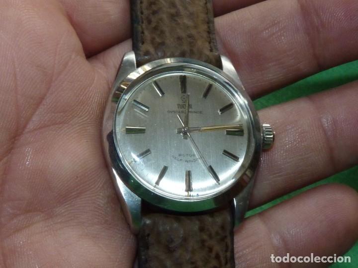 ELEGANTE RELOJ ROLEX TUDOR AUTOMATICO 1966 MODELO 7995 CALIBRE 2483 CAJA OYSTER ACERO 17 RUBIS (Relojes - Relojes Actuales - Rolex)