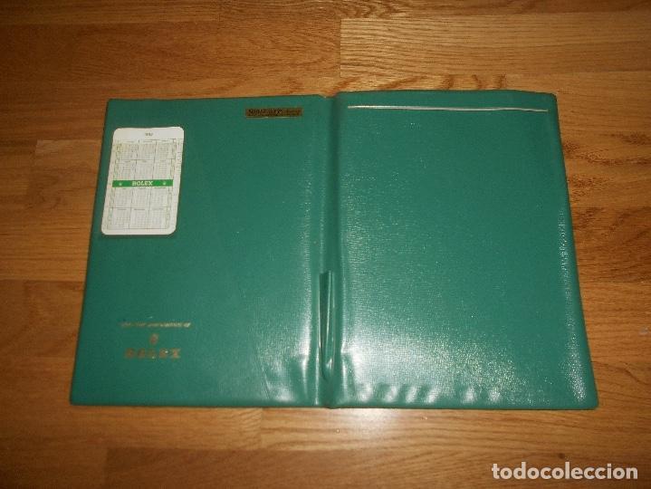 CARPETA VINTAGE CORPORATIVA CALENDARIO GREEN ROLEX AÑO 1967 1968 67 68 DOBLE SUBMARINER DAYTONA RARO (Relojes - Relojes Actuales - Rolex)
