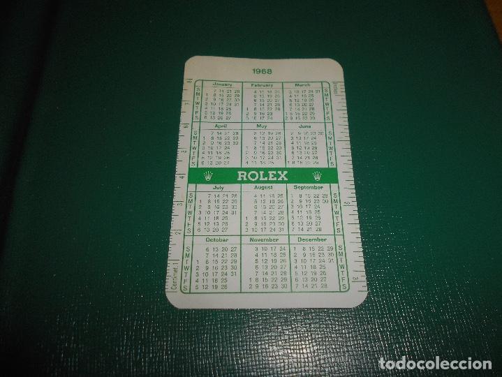 Relojes - Rolex: Carpeta vintage Corporativa Calendario GREEN ROLEX Año 1967 1968 67 68 doble SUBMARINER DAYTONA RARO - Foto 4 - 146288810