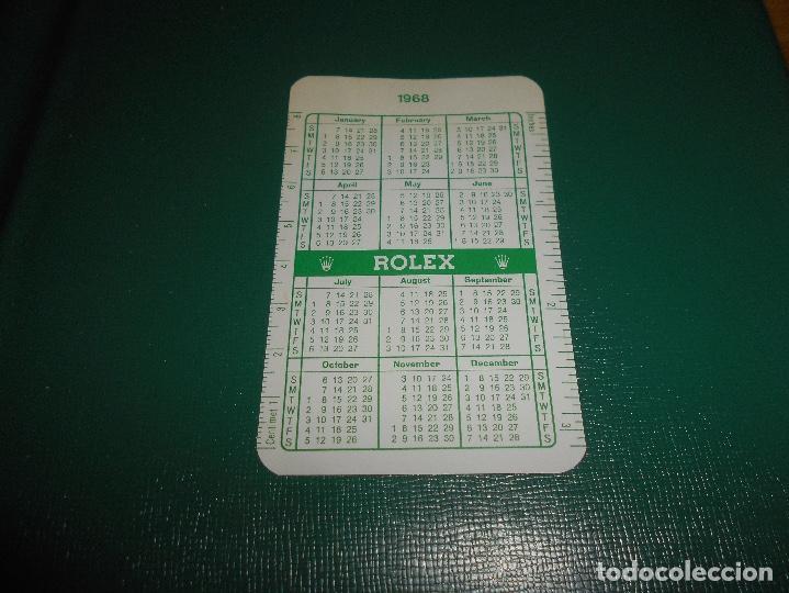Relojes - Rolex: Carpeta vintage Corporativa Calendario GREEN ROLEX Año 1967 1968 67 68 doble SUBMARINER DAYTONA RARO - Foto 8 - 146288810