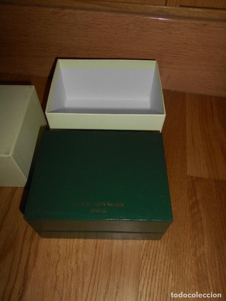 Relojes - Rolex: CAJA VERDE SIMIL PIEL CON ESTUCHE ORIGINAL PARA RELOJ ROLEX DATEJUST CON CATALOGO CARTERA PERFECTA - Foto 6 - 150946030