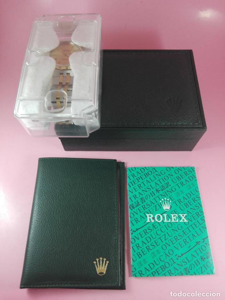 Relojes - Rolex: RELOJ-ROLEX-DATEJUST OYSTERQUARZ-17013-ACERO+ORO-COMO Nº-MUCHOS ACCESORIOS-Nuevo o como nuevo. - Foto 45 - 175823292