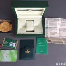 Relojes - Rolex: CAJA DE RELOJ ROLEX OYSTER PERPETUAL CON CERTIFICADOS , ORIGINAL . Lote 169993864