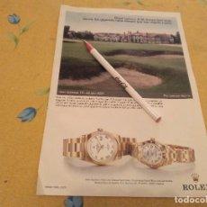 Orologi - Rolex: ANTIGUO ANUNCIO PUBLICIDAD RELOJES ROLEX DAY DATE Y ROLEX LADY DATEJUST ROLEX ESPAÑA MADRID. Lote 170185432