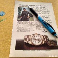 Orologi - Rolex: ANTIGUO ANUNCIO PUBLICIDAD REVISTA RELOJ ROLEX DAY DATE ORO 18 QUILATES ESPECIAL PARA ENMARCAR. Lote 170355560