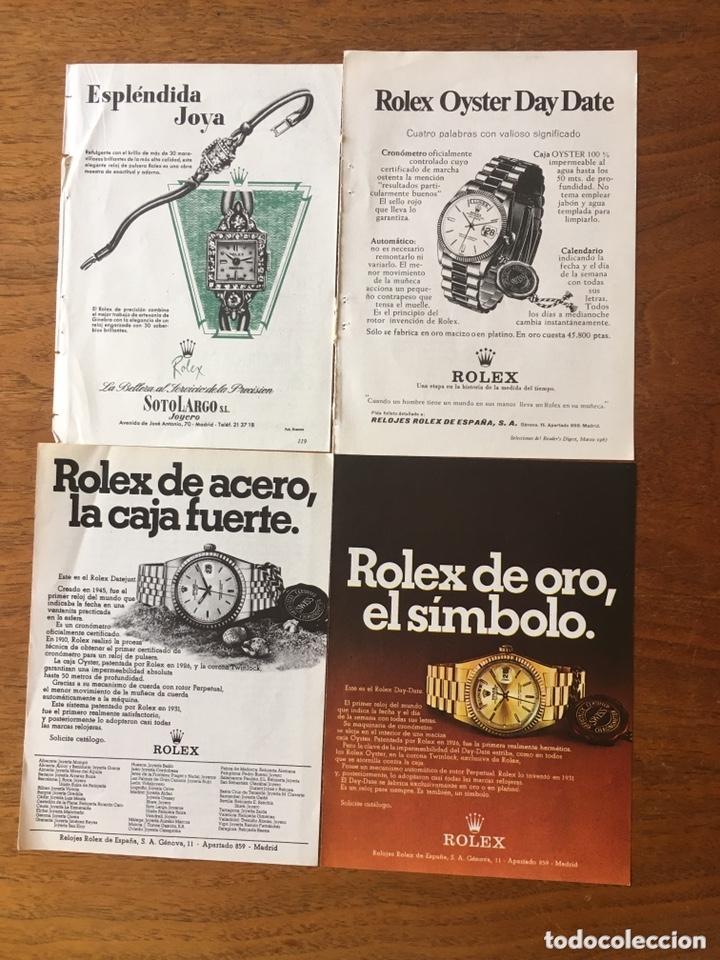ROLEX 34 ANUNCIOS ORIGINALES PUBLICADOS EN LA 2ª MITAD DEL SIGLO XX (Relojes - Relojes Actuales - Rolex)