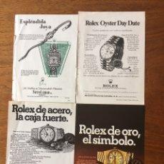 Relojes - Rolex: ROLEX 34 ANUNCIOS ORIGINALES PUBLICADOS EN LA 2ª MITAD DEL SIGLO XX. Lote 174062717