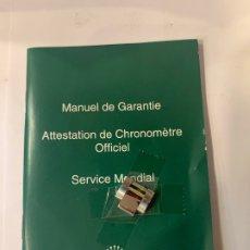 Relojes - Rolex: ROLEX MANUAL DE GARANTÍA CON SELLO DEL DISTRIBUIDOR -ORIGINAL- MED.: 10X7.5 CMS. (G). Lote 178959706