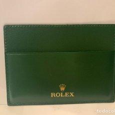 Relojes - Rolex: ROLEX CARTERA TIPO TARJETERO EN SIMIL PIEL PARA DOCUMENTACIÓN RELOJ -ORIGINAL- MED.: 11X8,5 CMS. (G). Lote 178959997