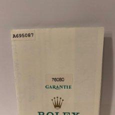 Relojes - Rolex: ROLEX CERTIFICADO DE GARANTÍA NUMERADO Y FECHADO DEL RELOJ -ORIGINAL- MED.:21X15,5 CMS. (G). Lote 178961958