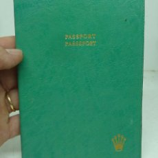 Relojes - Rolex: CARTERA PARA PASAPORTE, TARJETAS DE ROLEX PIEL VERDE. Lote 179095915