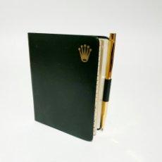 Relojes - Rolex: AGENDA TELEFONICA MARCA ROLEX ORIGINAL CON LAPIZ DORADO MEDIDAS 9X7CM SIN USAR. Lote 185874763