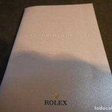 Relojes - Rolex: CATÁLOGO ROLEX. Lote 186067631