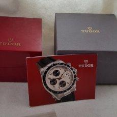 Relojes - Rolex: TUDOR CASA ROLEX CAJA CARTON + CAJA MADERA + LIBRO EXCELENTE ESTADO 85.00.64. Lote 197094405