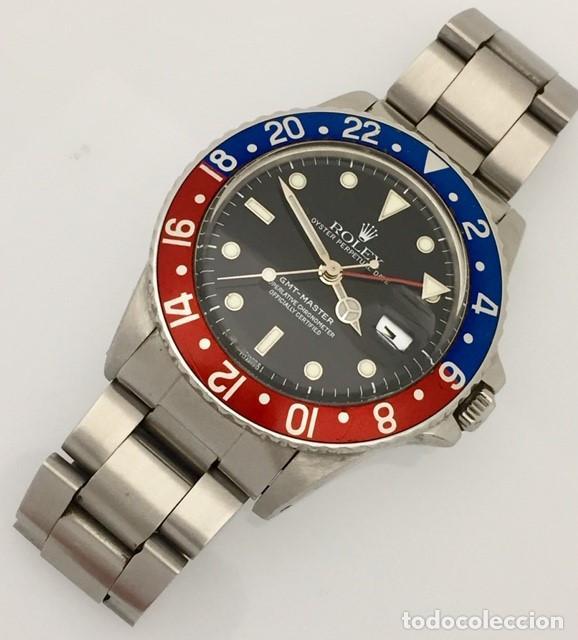 Relojes - Rolex: ROLEX GMT MASTER (PEPSI) ¡¡ REFERENCIA-16750 !! COMO NUEVO!! - Foto 3 - 197253967
