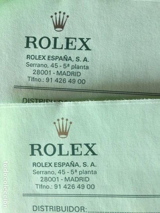 Relojes - Rolex: ROLEX ALBARAN EN BLANCO - Foto 2 - 254259375