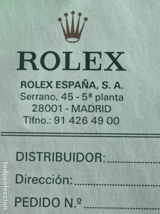 Relojes - Rolex: ROLEX ALBARAN EN BLANCO - Foto 4 - 254259375