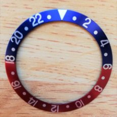 Relojes - Rolex: NUEVO BISEL INSERT PEPSI DE ALUMINIO PARA ROLEX GMT AZUL ROJO 16700, 16710, 16713. Lote 205700717