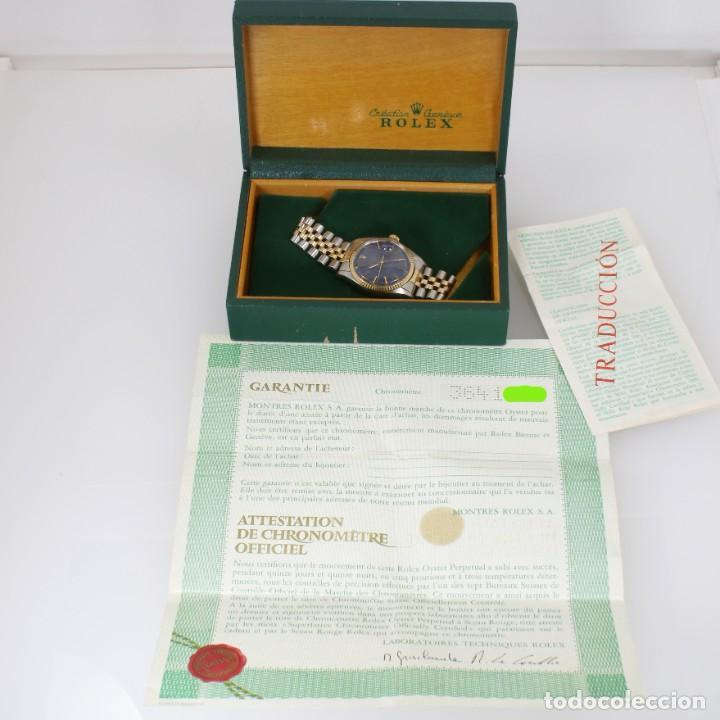 Relojes - Rolex: Rolex Datejust Acero y Oro Caja/Papeles 1974 ref.1601 - Foto 11 - 206215623