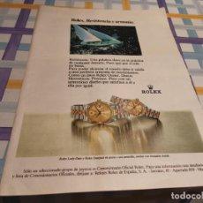 Orologi - Rolex: RELOJ ROLEX LADY-DATE Y ROLEX DATEJUST ANUNCIO PUBLICIDAD REVISTA 1984. Lote 209804463