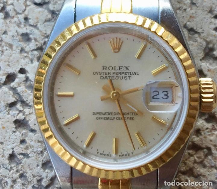 Relojes - Rolex: ROLEX OYSTER PERPETUAL DATEJUST-ORO Y ACERO-SUPERLATIVE CHRONOMETER-SWISS MADE 1992 PARA SEÑORA - Foto 2 - 212408133
