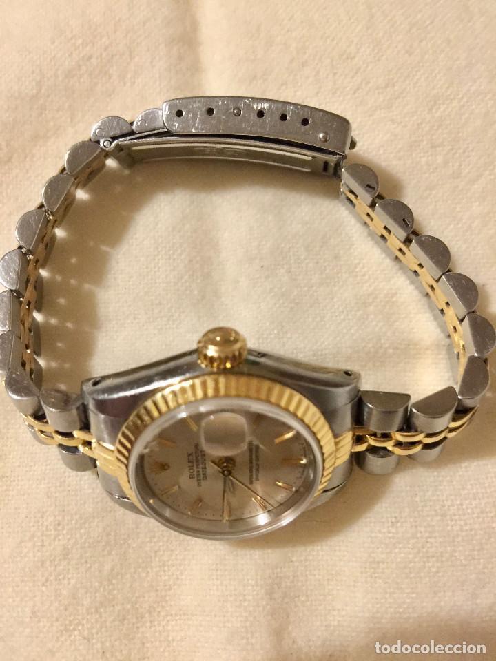 Relojes - Rolex: ROLEX OYSTER PERPETUAL DATEJUST-ORO Y ACERO-SUPERLATIVE CHRONOMETER-SWISS MADE 1992 PARA SEÑORA - Foto 3 - 212408133