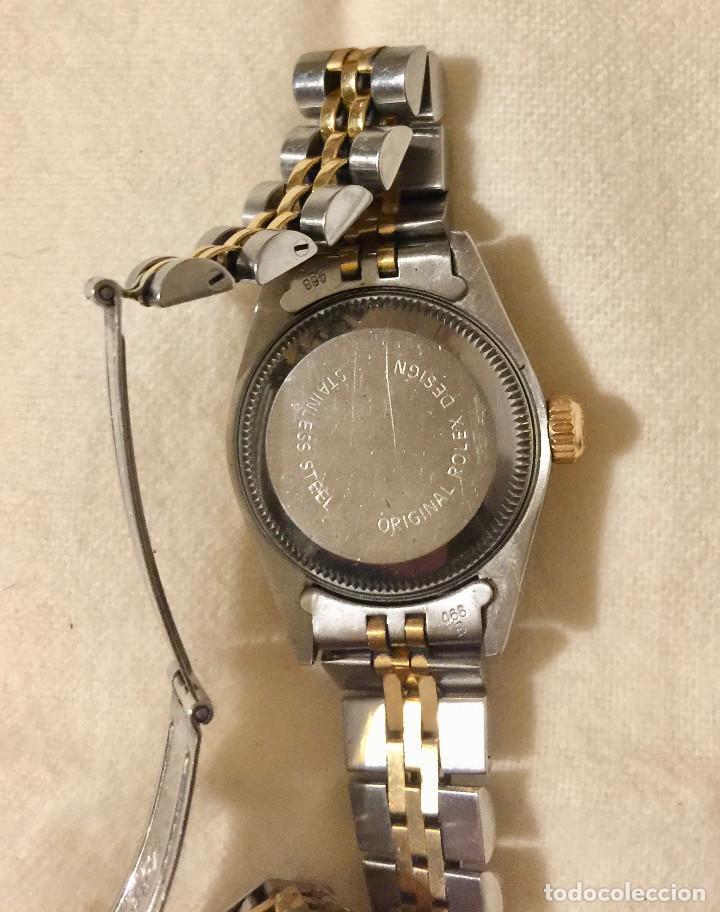 Relojes - Rolex: ROLEX OYSTER PERPETUAL DATEJUST-ORO Y ACERO-SUPERLATIVE CHRONOMETER-SWISS MADE 1992 PARA SEÑORA - Foto 4 - 212408133