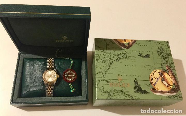 Relojes - Rolex: ROLEX OYSTER PERPETUAL DATEJUST-ORO Y ACERO-SUPERLATIVE CHRONOMETER-SWISS MADE 1992 PARA SEÑORA - Foto 6 - 212408133