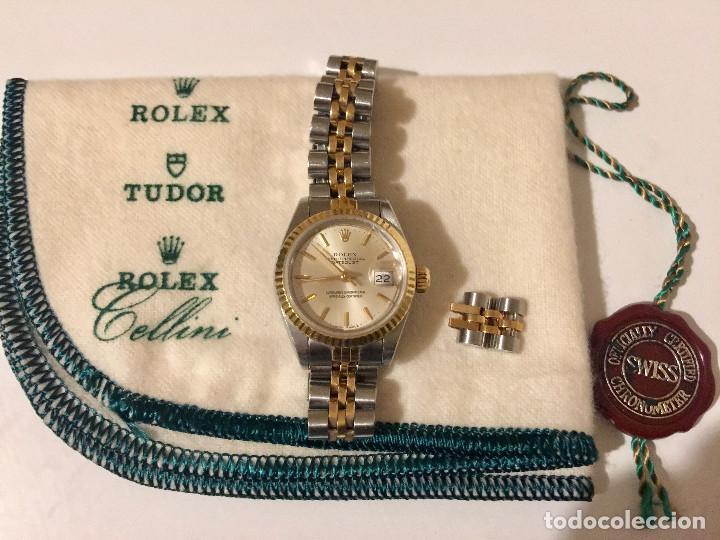 Relojes - Rolex: ROLEX OYSTER PERPETUAL DATEJUST-ORO Y ACERO-SUPERLATIVE CHRONOMETER-SWISS MADE 1992 PARA SEÑORA - Foto 11 - 212408133