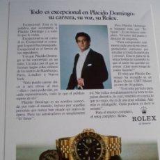 Relojes - Rolex: DISCO LP GRABACION ESPECIAL DE PLACIDO DOMINGO PARA ROLEX EDICION LIMITADA PARA DISTRIBUIDORES. Lote 222928576