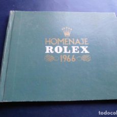 Relojes - Rolex: ALBUM FOTOGRAFICO HOMENAJE DE RELOJES ROLEX A ESPAÑA EN 1966. Lote 223379795