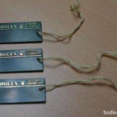 Relojes - Rolex: 3 ETIQUETAS DE RELOJ ROLEX. Lote 223531340