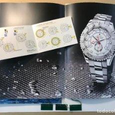 Relojes - Rolex: CATALOGO YACHT-MASTER II Y TRES ETIQUETAS RELOJES ROLEX. Lote 223706085