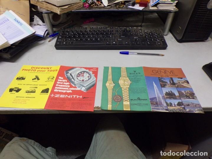 Relojes - Rolex: dos hojas años 70 publicidad relojes rolex zenith y otros - Foto 2 - 223742122