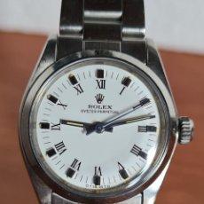 Relojes - Rolex: RELOJ SEÑORA ROLEX. OYSTER PERPETUAL EN ACERO, ESFERA COLOR BLANCA, AGUJAS EN ACERO, CORREA ORIGINAL. Lote 223984255