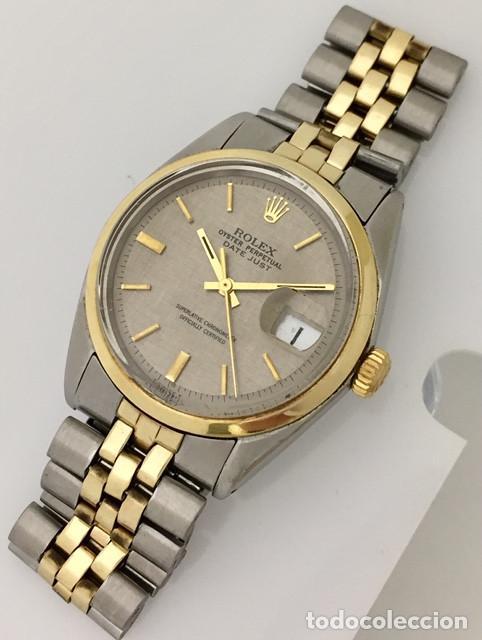 Relojes - Rolex: ROLEX OYSTEL PERPETUAL DATE JUST EDIC.ESPECIAL-REF.1570-ORO18KTS-ACERO-¡¡COMO NUEVO!! - Foto 2 - 202724567