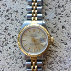 Relojes - Rolex: ROLEX OYSTER PERPETUAL DATEJUST-ORO Y ACERO-SUPERLATIVE CHRONOMETER-SWISS MADE 1992 PARA SEÑORA. Lote 235905835