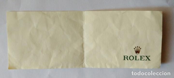 Relojes - Rolex: Pequeña hoja libreta oficial de relojes Rolex. Logotipo corona dorada. - Foto 2 - 238912905