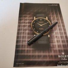 Relojes - Rolex: RELOJ ROLEX CELLINI ANUNCIO PUBLICIDAD REVISTA 2001. Lote 243024280