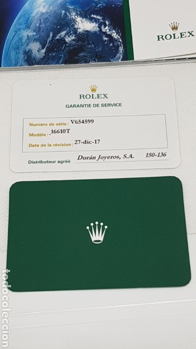 Relojes - Rolex: FUNDA Y DOCUMENTACION RELOJ ROLEX MODELO 16610T - Foto 4 - 246445390