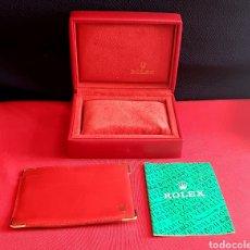 Montres - Rolex: ESTUCHE DEL RELOJ ROLEX CON EL CALENDARIO Y LA CARTERA VER FOTOS. Lote 249299190