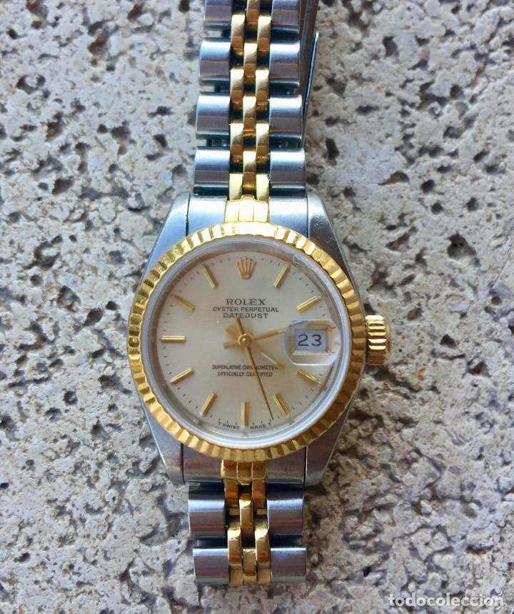 ROLEX OYSTER PERPETUAL DATEJUST-ORO Y ACERO-SUPERLATIVE CHRONOMETER-SWISS MADE 1992 PARA SEÑORA (Relojes - Relojes Actuales - Rolex)