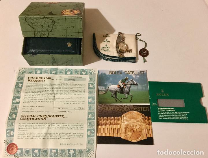 Relojes - Rolex: ROLEX OYSTER PERPETUAL DATEJUST-ORO Y ACERO-SUPERLATIVE CHRONOMETER-SWISS MADE 1992 PARA SEÑORA - Foto 11 - 254148280